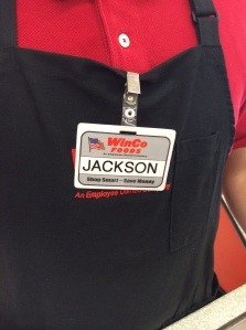 Our checker?  But of course!!  Jackson spelled out the letters for him: J A C K S O N!